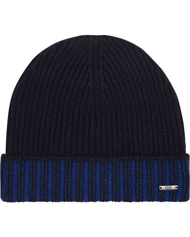 BOSS Fati Wool Beanie Blue  i gruppen Accessoarer / Mössor hos Care of Carl (13019510)