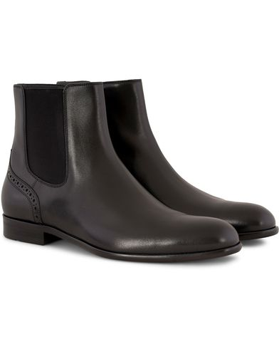 BOSS Manhattan Plain Chelsea boot Black Calf i gruppen Design A / Sko / Støvler / Chelsea boots hos Care of Carl (13020111r)