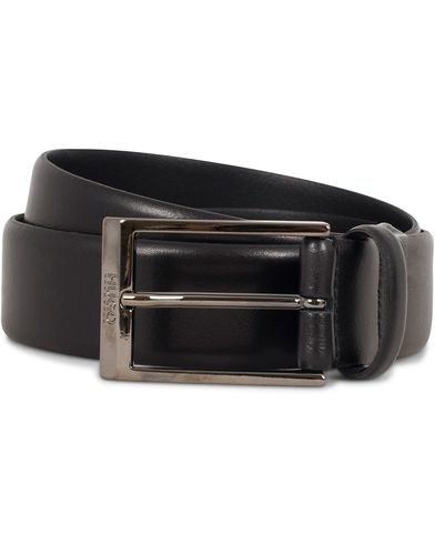 Hugo C-Gamal 3,5cm Leather Belt Black i gruppen Accessoarer / Bälten / Släta bälten hos Care of Carl (13020711r)