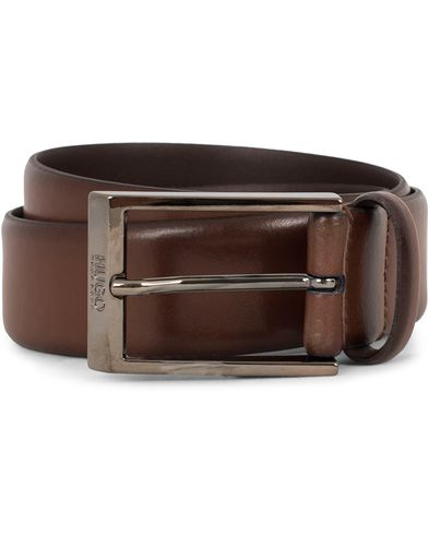 Hugo C-Gamal 3,5cm Leather Belt Cognac i gruppen Accessoarer / Bälten / Släta bälten hos Care of Carl (13020911r)