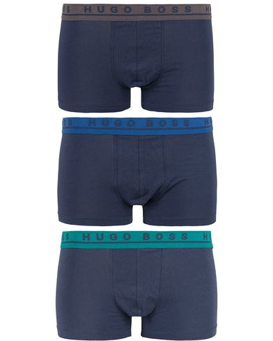 BOSS 3-Pack Boxer Coloured Waistband Green/Grey/Blue i gruppen Design B / Kläder / Underkläder / Kalsonger hos Care of Carl (13021411r)