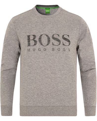 Boss Green Salbo Sweatshirt Grey Melange i gruppen Gensere / Sweatshirts hos Care of Carl (13022911r)