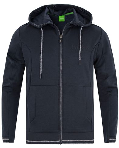 Boss Green Saggy Full Zip Hoodie Night Watch i gruppen Kläder / Tröjor / Huvtröjor hos Care of Carl (13023411r)
