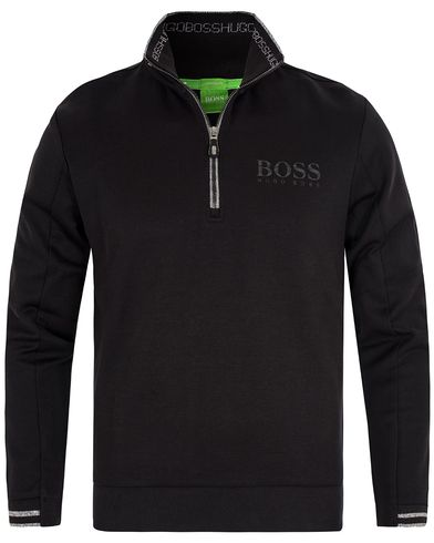 Boss Green Sweat Half Zip Black i gruppen Gensere / Zip-gensere hos Care of Carl (13023611r)