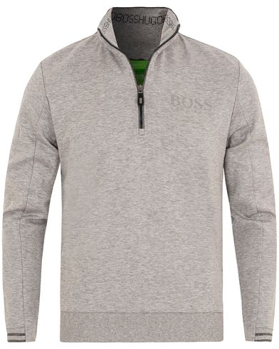 Boss Green Sweat Half Zip Grey Melange i gruppen Tröjor / Zip-tröjor hos Care of Carl (13023711r)