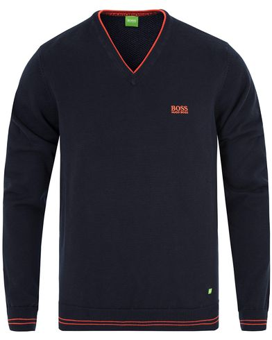 Boss Green Rime Pullover Crew Neck Night Watch i gruppen Gensere / Pullover / Pullovers v-hals hos Care of Carl (13024811r)