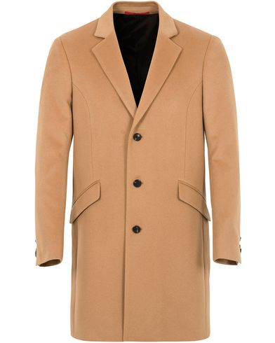 Hugo Atlyn Cashmere Coat Camel i gruppen Jackor / Rockar hos Care of Carl (13025011r)