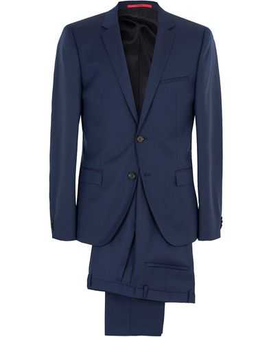 Hugo Arti/Helion Wool Structure Suit Navy i gruppen Dresser hos Care of Carl (13025411r)