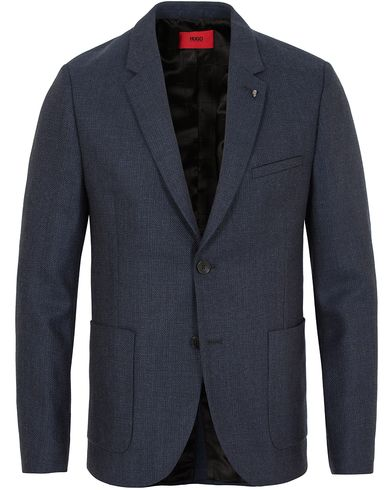 Hugo Agto Patch Pocket Blazer Navy i gruppen Dressjakker / Enkeltspente dressjakker hos Care of Carl (13025511r)
