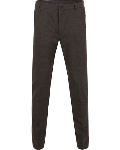HUGO Heldor Flannel Trousers Brown i gruppen Kläder / Byxor / Flanellbyxor hos Care of Carl (13025711r)