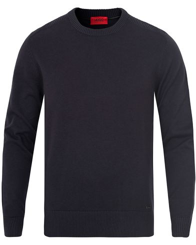 Hugo Seiko Knitted Moto Sweater Navy i gruppen Gensere / Strikkede gensere hos Care of Carl (13025811r)