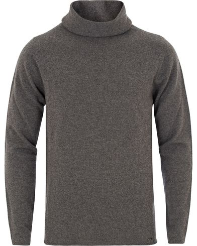 Hugo Sullux Cashmere/Wool Polo Grey i gruppen Klær / Gensere / Pologensere hos Care of Carl (13025911r)