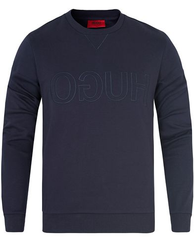 Hugo Dapone Logo Sweat Navy i gruppen Tröjor / Sweatshirts hos Care of Carl (13026311r)