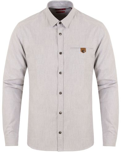 Hugo Ewaldo Flannel Shirt Grey i gruppen Skjortor / Casual Skjortor hos Care of Carl (13027011r)