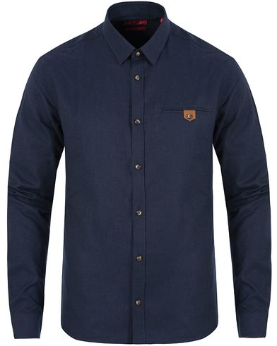Hugo Ewaldo Flannel Shirt Navy i gruppen Skjortor / Casual skjortor hos Care of Carl (13027111r)