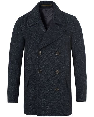 PS by Paul Smith Herringbone Peacoat Navy i gruppen Jakker / Skipperjakker hos Care of Carl (13028311r)