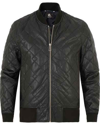 PS by Paul Smith Quilted Leather Jacket Black i gruppen Jakker / Skinnjakker hos Care of Carl (13028711r)