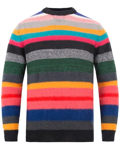 PS by Paul Smith Knitted Striped Crew Neck Sweater Light Multi i gruppen Tröjor / Stickade tröjor hos Care of Carl (13028911r)