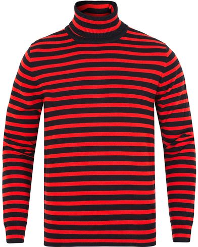 PS by Paul Smith Merino Striped Polo Red/Blue i gruppen Gensere / Pologensere hos Care of Carl (13029311r)