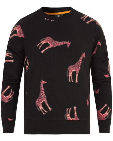 PS by Paul Smith Cotton Giraffe Sweater Black i gruppen Gensere / Sweatshirts hos Care of Carl (13029611r)