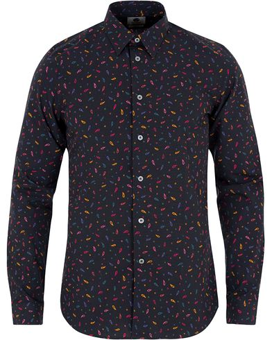 PS by Paul Smith Slim Fit Paisley Print Shirt Black i gruppen Skjorter / Casual skjorter hos Care of Carl (13029711r)