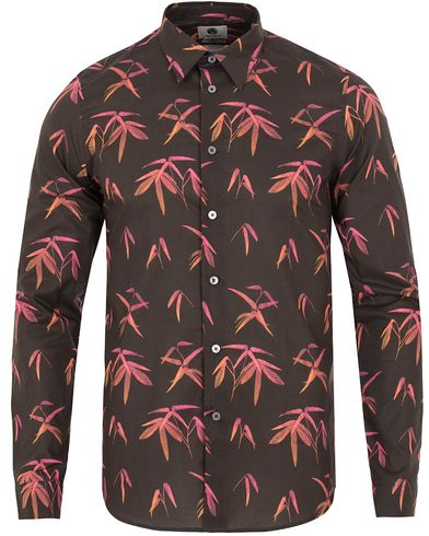 PS by Paul Smith Slim Fit Palm Print Shirt Black i gruppen Skjorter / Casual skjorter hos Care of Carl (13029911r)