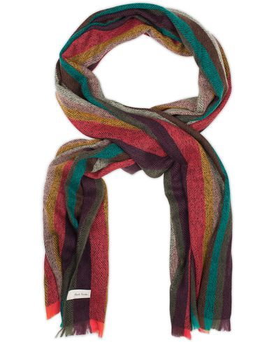 Paul Smith Lambswool Striped Scarf Multi  i gruppen Accessoarer / Halsdukar hos Care of Carl (13030210)