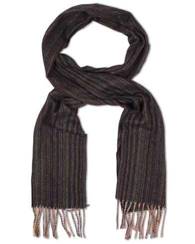 Paul Smith Cashmere Striped Scarf Shadow Multi  i gruppen Accessoarer / Halsdukar hos Care of Carl (13030310)