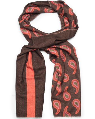 Paul Smith Wool/Cashmere Paisley Scarf Chocolate  i gruppen Accessoarer / Halsdukar hos Care of Carl (13030410)