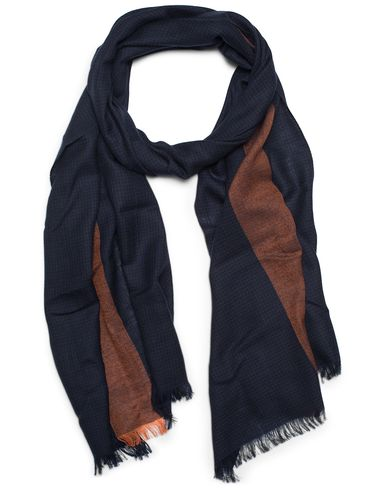 Paul Smith Tonal Houndtooth Scarf Navy  i gruppen Accessoarer / Scarves hos Care of Carl (13030610)