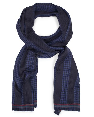 Paul Smith Wool  Houndtooth Striped Scarf Navy  i gruppen Accessoarer / Halsdukar hos Care of Carl (13030910)