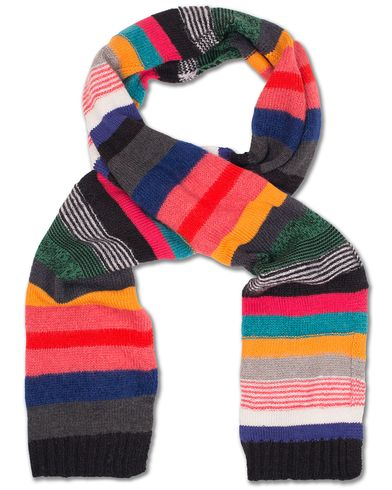 PS by Paul Smith Merino/Kid Mohair Striped Scarf Multi  i gruppen Accessoarer / Halsdukar hos Care of Carl (13031010)