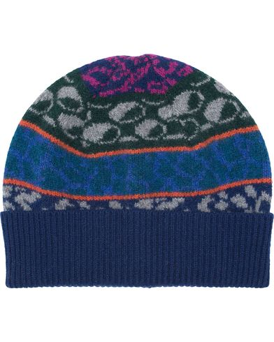 PS by Paul Smith Fair Isle Beanie Navy  i gruppen Assesoarer / Luer hos Care of Carl (13031310)