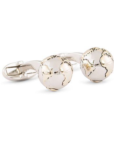 Paul Smith Earth Globe Cufflinks Silver  i gruppen Accessoarer / Manschettknappar hos Care of Carl (13032110)