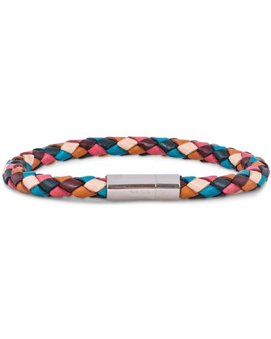 Paul Smith Leather Plait Striped Bracelet Multi  i gruppen Assesoarer / Armbånd hos Care of Carl (13032410)