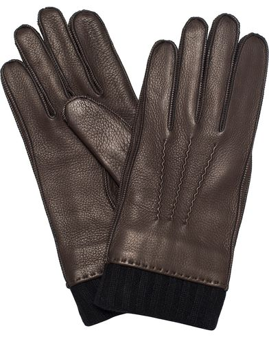 Paul Smith Deerskin Gloves Cashmere Lining Chocolate i gruppen Sesongens nøkkelplagg / Hanskene til spaserturen hos Care of Carl (13032811r)