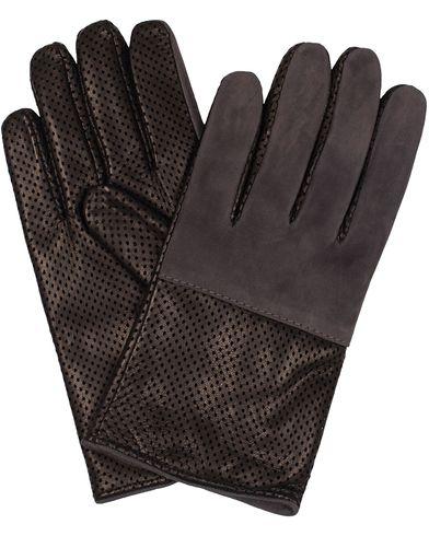 Paul Smith Driving Gloves Cashmere Lining Grey/Black i gruppen Assesoarer / Hansker hos Care of Carl (13032911r)