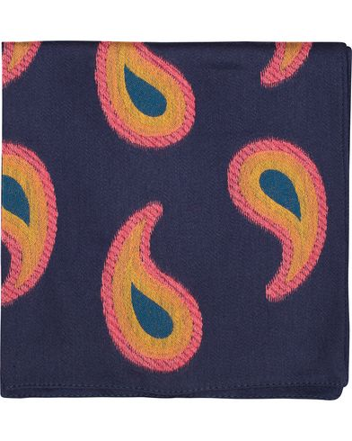 Paul Smith Paisley Pocket Square Navy  i gruppen Assesoarer / Lommetørklær hos Care of Carl (13033210)