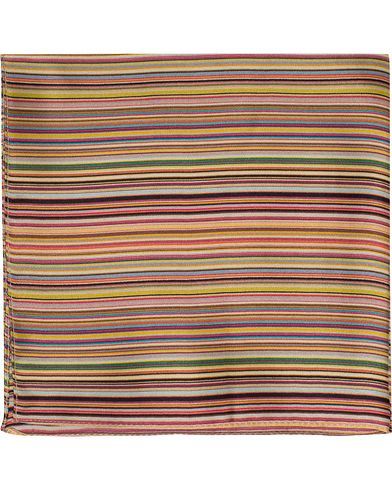 Paul Smith Classic Stripe Pocket Square Multi  i gruppen Assesoarer / Lommetørklær hos Care of Carl (13033510)