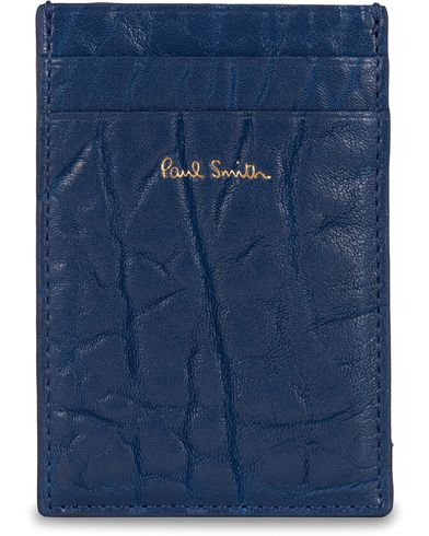 Paul Smith Leather Credit Card Holder Sky Blue  i gruppen Assesoarer / Lommebøker / Kortholdere hos Care of Carl (13034210)