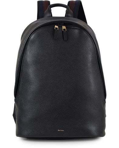 Paul Smith Leather Backpack With Trimming Black  i gruppen Vesker / Ryggsekker hos Care of Carl (13034410)