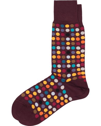 Paul Smith Multi Daley Polka Socks Wine Red  i gruppen Kläder / Underkläder / Strumpor / Vanliga strumpor hos Care of Carl (13034710)