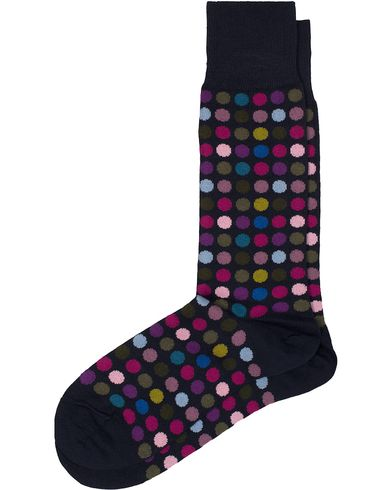 Paul Smith Multi Daley Polka Socks Navy  i gruppen Kläder / Underkläder / Strumpor / Vanliga strumpor hos Care of Carl (13034810)