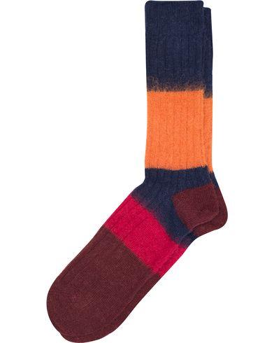 Paul Smith Wool Mohair Block Socks Multi  i gruppen Undertøy / Sokker / Vanlige sokker hos Care of Carl (13035310)