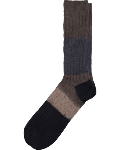 Paul Smith Wool Mohair Block Socks Black/Grey  i gruppen Undertøy / Sokker / Vanlige sokker hos Care of Carl (13035410)