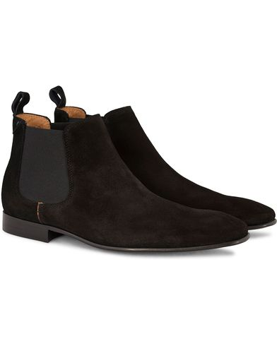 PS by Paul Smith Falconer Chelsea Boot Black Suede i gruppen Sko / St�vler / Chelsea boots hos Care of Carl (13036111r)