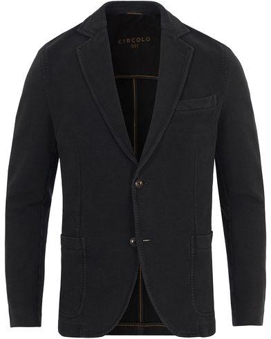Circolo 1901 Jersey Patch Pocket Blazer Lavagna Black i gruppen Kläder / Kavajer / Enkelknäppta kavajer hos Care of Carl (13037011r)