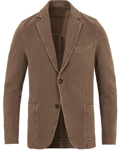 Circolo 1901 Jersey Patch Pocket Blazer Fango Brown i gruppen Kavajer / Enkelknäppta kavajer hos Care of Carl (13037111r)