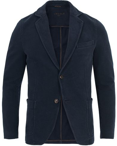 Circolo 1901 Jersey Patch Pocket Blazer Blue Navy i gruppen Klær / Dressjakker hos Care of Carl (13037211r)