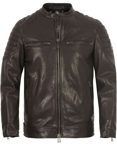 Belstaff Stoneham Leather Jacket Black i gruppen Klær / Jakker / Skinnjakker hos Care of Carl (13037511r)